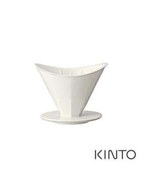 日本KINTO OCT八角陶瓷濾杯-2杯量(白)