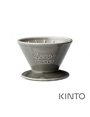 KINTO SCS陶瓷濾杯4杯量-灰