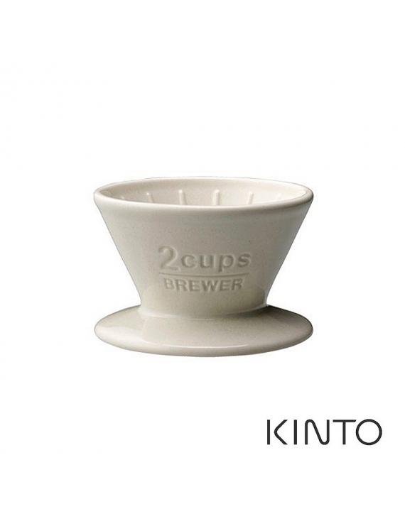 KINTO SCS陶瓷濾杯2杯量-白